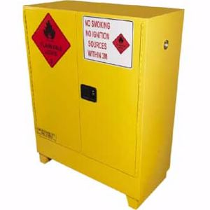 Picture of 160 Litre Flammable Liquid Storage Cabinet 2 Doors and 2 Shelves