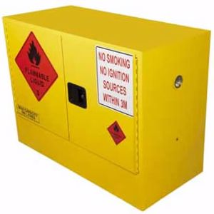 Picture of 100 Litre Flammable Liquid Storage Cabinet 2 Doors and 1 Shelf